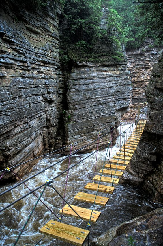 Perilous Venture (Ausable Chasm), the Grand Canyon of the Adirondacks, New York.