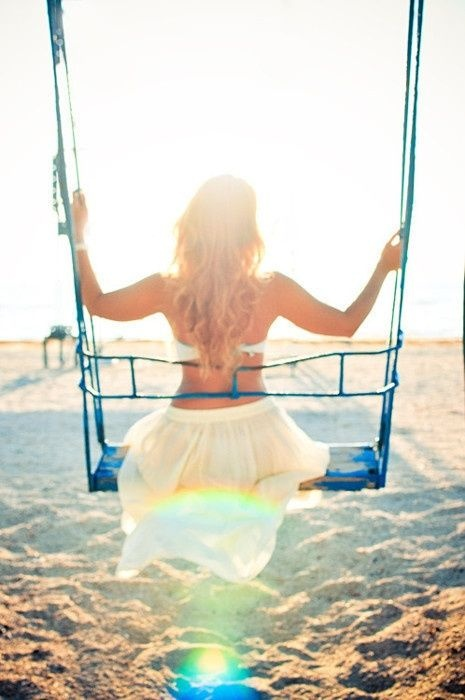 :) two things i love: the beach and swinging