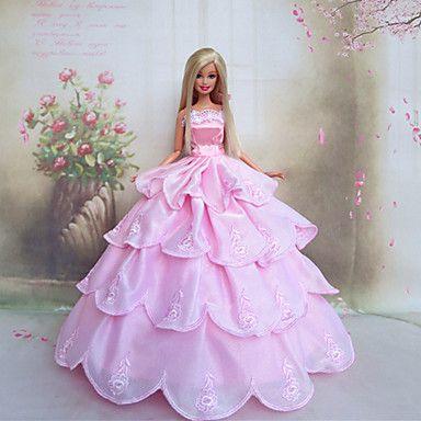 bambola barbie vestito di nozze romantica principessa rosa - EUR € 8.59