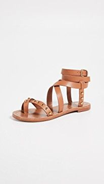 3be62a3f4 Tory Burch Ravello Studded Ankle Wrap Sandals in 2019