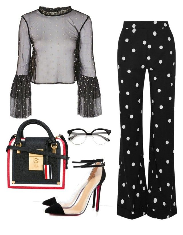 """Dalmatian"" by ebritch on Polyvore featuring Lace & Beads, Monse and Thom Browne"