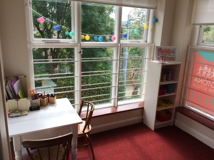 Desk in the window