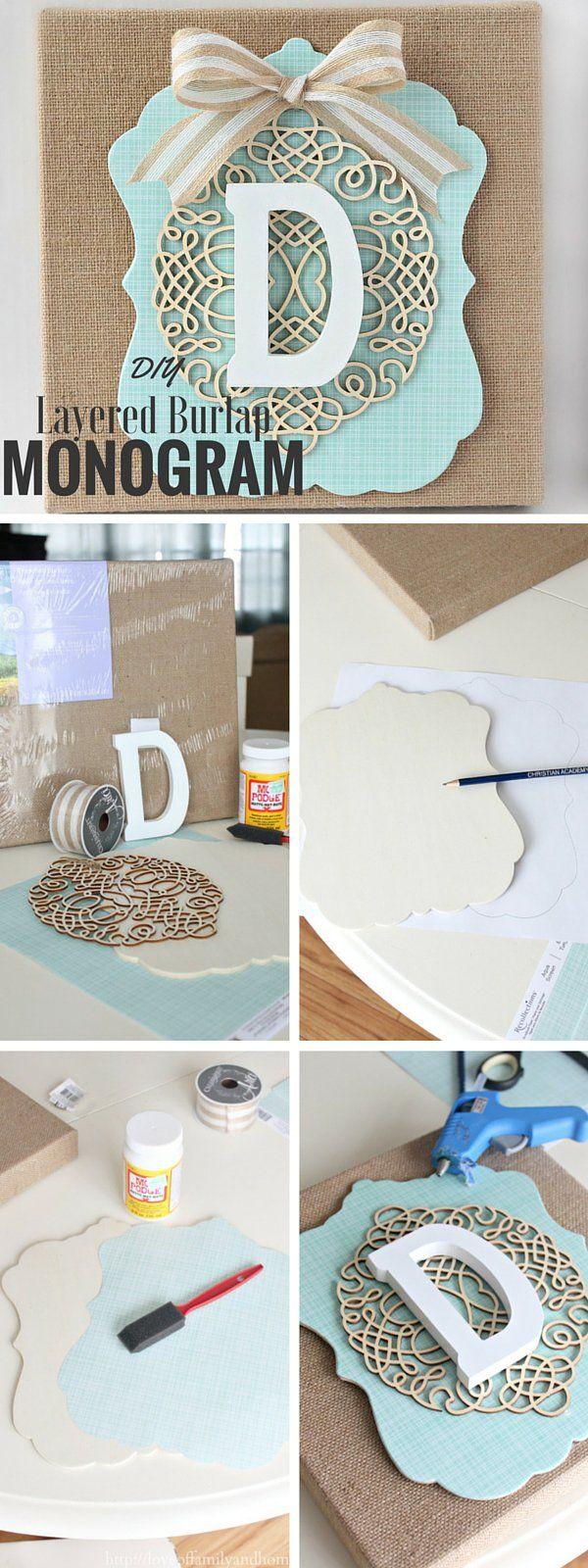 Check out the tutorial: #DIY Layered Burlap Monogram @istandarddesign