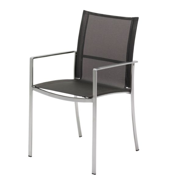 Fusion Stacking Chair with Arms (Mercury)