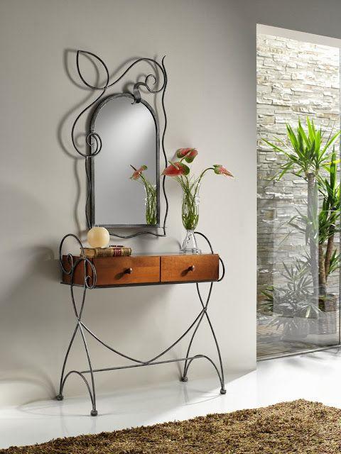 Decoração com mobiliário de ferro forjado