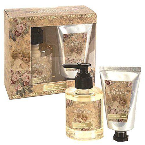 Tentation 500896 : Coffret Cadeau Bain APOTHECARY ANGEL Parfum Lait & Miel pour Femme Anges Noël Bien-Être Savon Soin des Mains Ongles:…