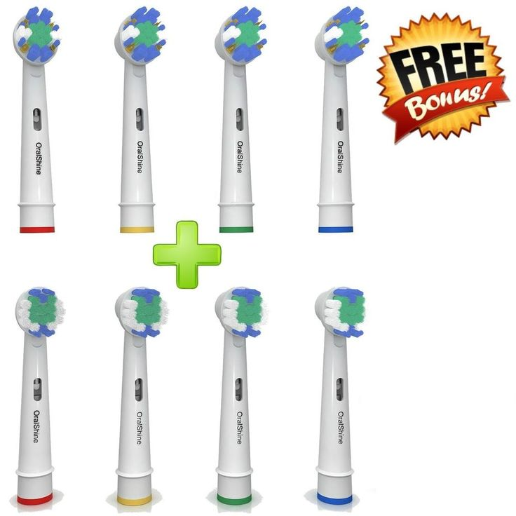 Set of 8 Pieces Oralb Toothbrush Heads Replacement Best Electric Braun Brush New #OralShine