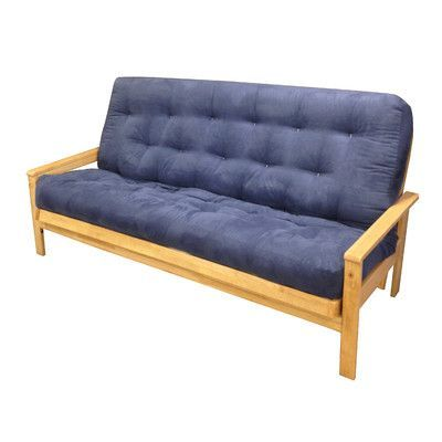 Gold Bond Cotton Loveseat Futon Mattress Upholstery: Burgundy