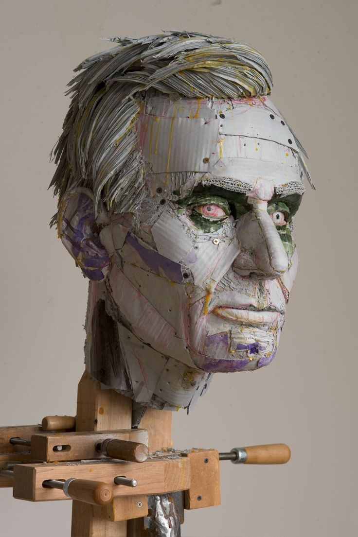 Cardboard sculptures by Scott Fife