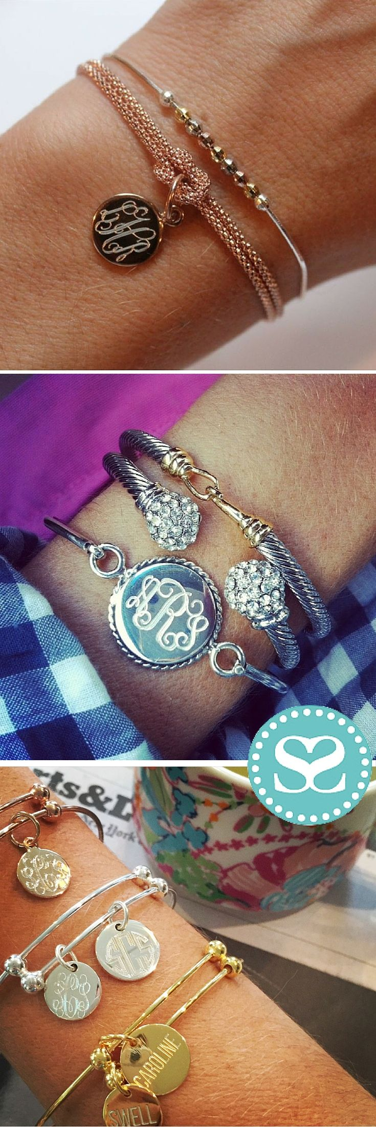 Engraved locally with love, #SwellCaroline bracelets make the sweetest gifts. By engraving the back side with a personal sentiment or date, you can create the most irresistible customized piece!