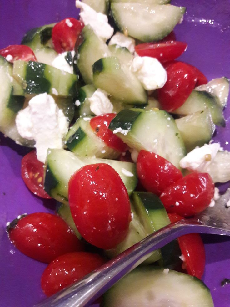 Minted Tomato Cucumbers Try this as a main dish, salad or pizza topping! http://ht.ly/kQvi308GOa5  #cucumber #feta #mint #salad #sidedish #side #tomato #ourcookery #cooking #recipes #foodie #food #foodporn #yummy #follow #followus #followme #follow4follow #repost