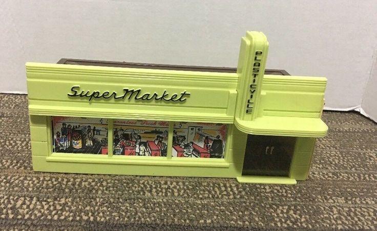 Vintage Plasticville Large Super Market with Brown Roof. SM-7 | eBay