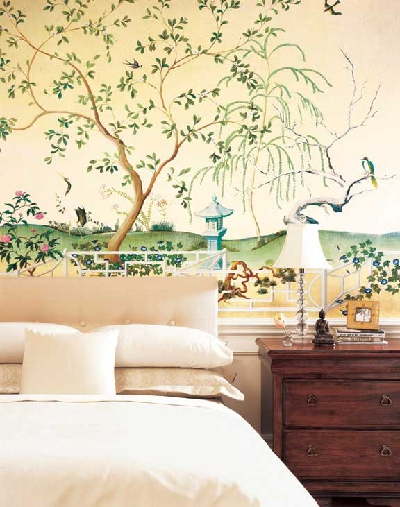 1000 images about wall paintings on pinterest trees in kitchen and foyers - Oriental stencils for walls ...