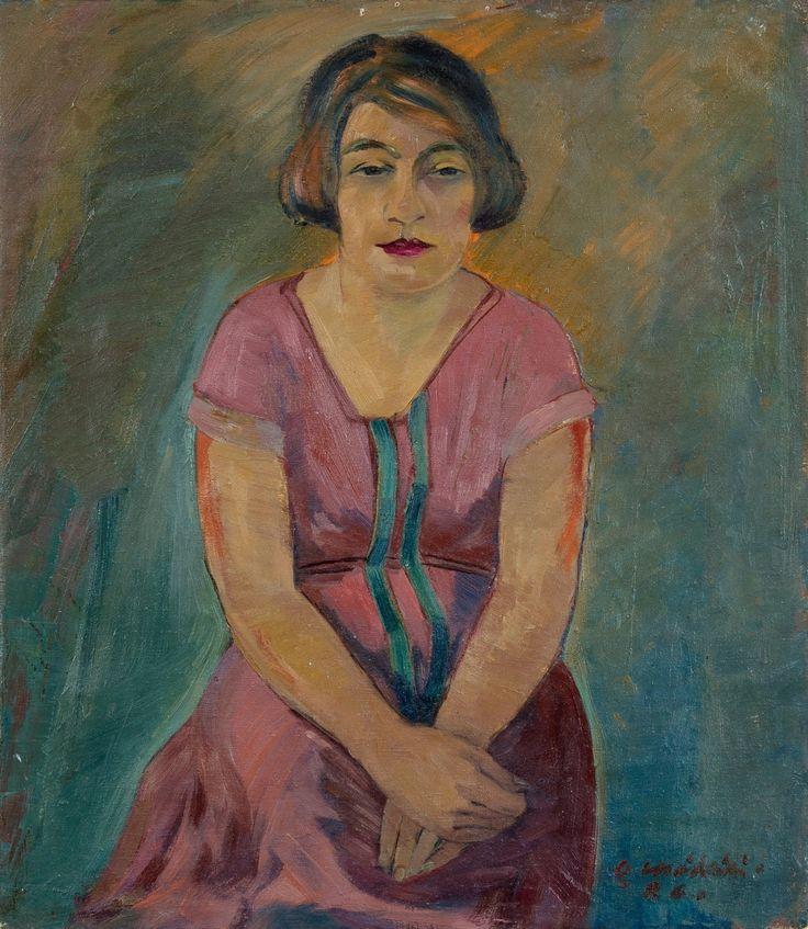 "terminusantequem: "" Otto Mäkilä (Finnish, 1904-1955), Damporträtt, 1926. Oil on canvas, 80 x 62 cm """
