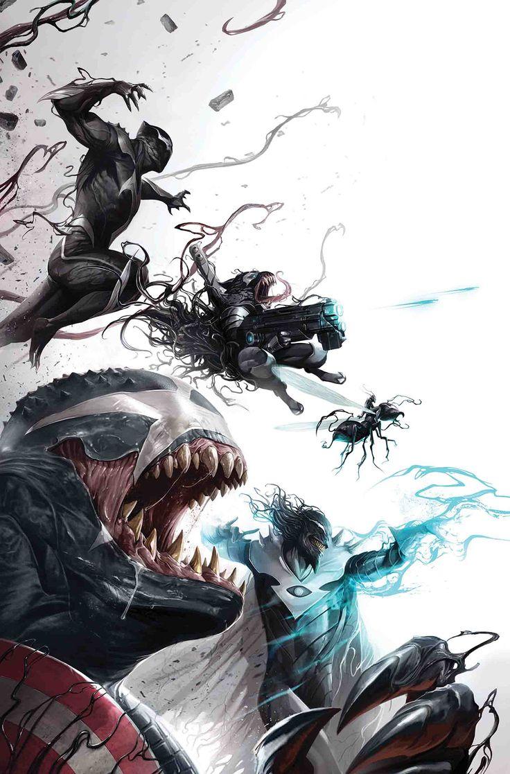 VENOMVERSE WAR STORIES #1Claro, ya sabes sobre algunas de las aventuras de All-New Wolverine, Gwenpool, Ghost Rider, Old Man Logan y Deadpool continuaron con sus simbiontes, pero ¿qué pasa con el resto ?! • Con una serie llena de estrellas de creadores y personajes, incluyendo • ... una historia VENOMIZADA de PUNISHER escrita y dibujada por Declan Shalvey! • ¡Y las increíbles aventuras de VENOMIZED ROCKET RACCOON de Magdalene Visaggio!