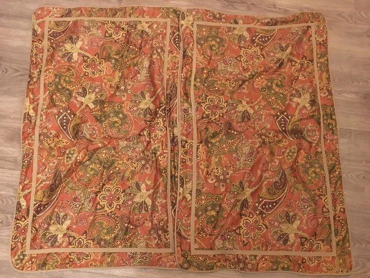 Ralph Lauren chaps Chandler Paisley Floral Bronze Brown King pillow Shams pair  | eBay