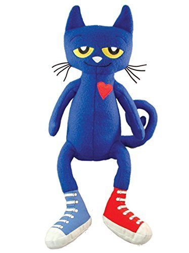 Merry Makers Pete the Cat Plush Doll 14.5-Inch - Plush Baby Toys