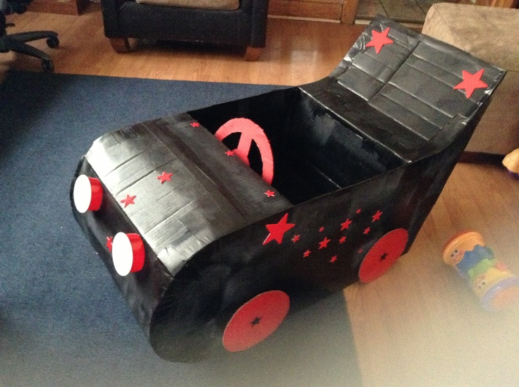 cardboard box car transportation parade ideas