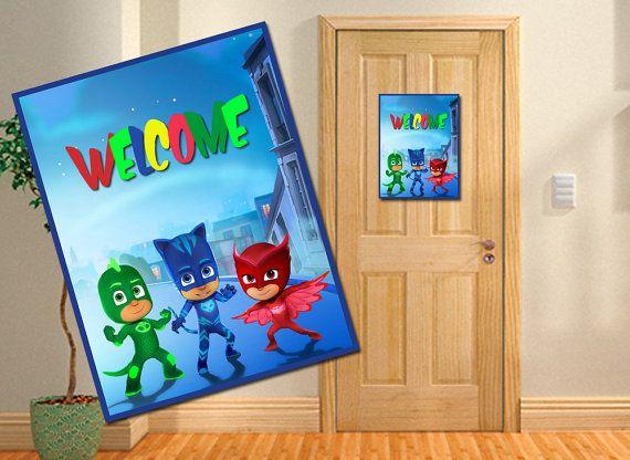 Pj Masks Kids Room Pj Masks Kids Door Decor Pj by ...