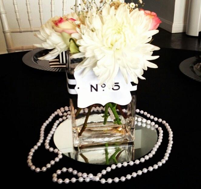 Chanel inspired centerpiece   Wedding: Jasmine   Pinterest   Chanel and Centerpieces
