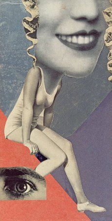 "archives-dada: ""Hannah Höch, Made for a party, 1936, collage, 36 x 19,8 cm Institute for Foreign Cultural Relations, Stuttgart. © Hannah Hoch/VG Bild-Kunst, Bonn. """