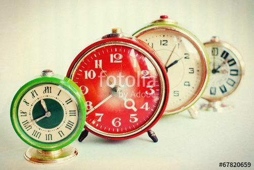Vintage alarmclocks  #Stock photo - https://fotolia.com/id/67820659    #vintagestyle #webdesign #website #vintage #decor #background #clock #art #web #time #networking