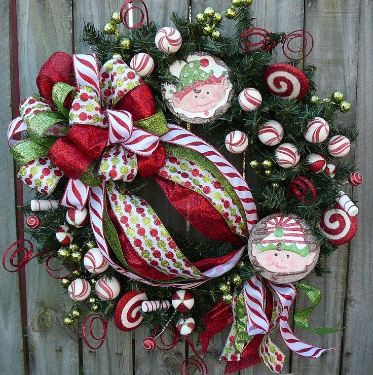 Christmas Holiday Wreath Elf Wreath