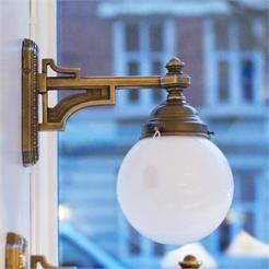 Belysning - innebelysning - gamle lamper - 399 Lampett med rund kuppel
