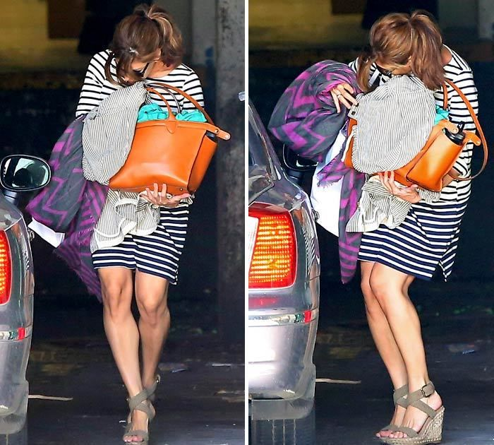 Eva Mendes Pregnant -- She's Got Something to Hide ... Ryan Gosling's Baby!!! I thought this was funny...If she is pregnant..Why risk falling or something worst...I say Enjoy being pregnant! No big deal! :)