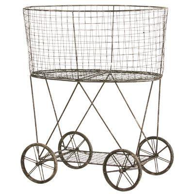 $75 - Cape Craftsmen Metal Wire Basket on Wheels