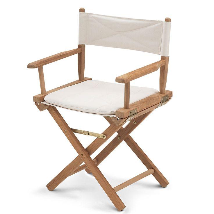 Director's Chair, Teak/Canvas - Skagerak - Skagerak - RoyalDesign.com #skagerak #furniture