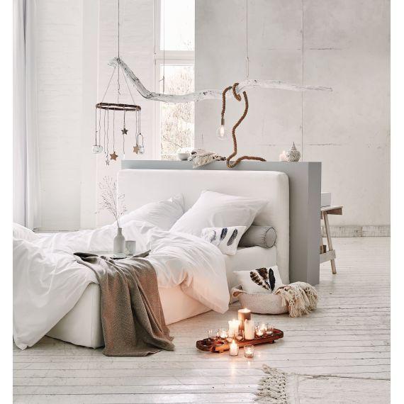 Bettwäsche, Reißverschluss, uni weiß, Baumwolle Katalogbild