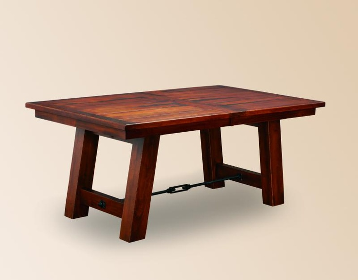 The Ouray Double Trestle Plank Table Is Handcrafted By An Old Order Amish Woodworker If You Are Looking For A Unique Dining Room Or Kitchen