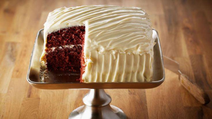 Tarta red velvet con cobertura de crema de queso (Red velvet cake) - Anna Olson - Receta - Canal Cocina