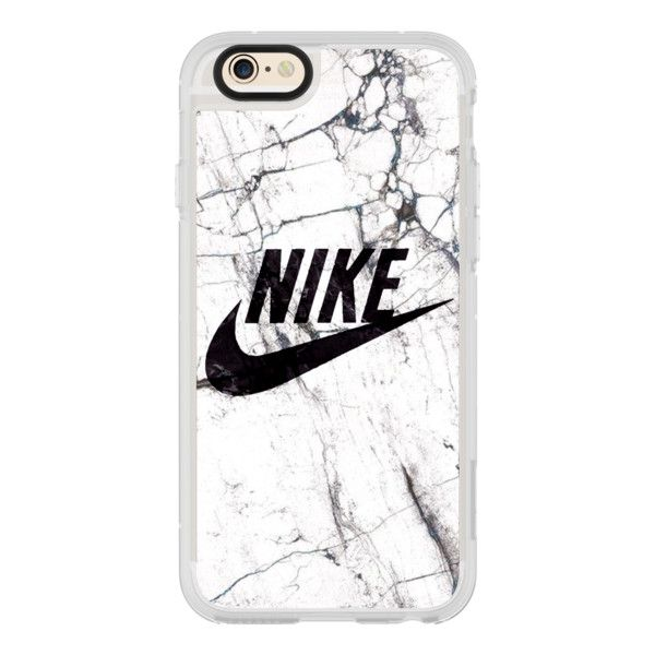 WHITE AND BLACK MARBLE NIKE - iPhone 7 Case, iPhone 7 Plus Case,... ($40) ❤ liked on Polyvore featuring accessories, tech accessories, iphone case, iphone hard case, iphone cover case, clear iphone cases, apple iphone cases and iphone cases