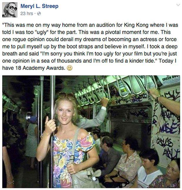 Meryl Streep facebook post