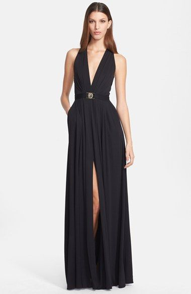 Versace Collection V Neck Gown Available At Nordstrom Semi Formal Dressesformal