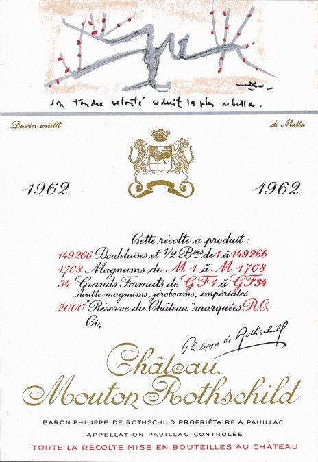 Etiquette Mouton Rothschild 1962 Roberto MATTA