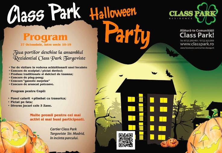 NU UITATI : Maine de la 10, va asteptam la Halloween Party in Class Park :) !!!