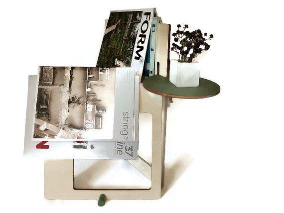 Laser cut wood magazine rackmagazine displaymagazine by LOHNhome