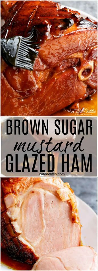 The most perfect sticky glaze is slathered all over this juicy, tender Brown Sug…