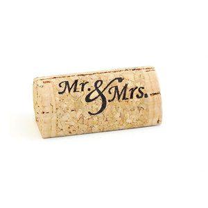 Mr & Mrs - Custom Wine Cork Place Card Holders - CorkeyCreations.com