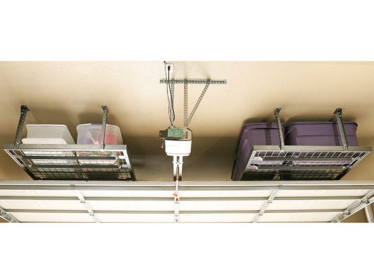 Garage Ceiling Storage   Garage Buyers Hyloft Super Pro Line Ceiling  Storage Unit