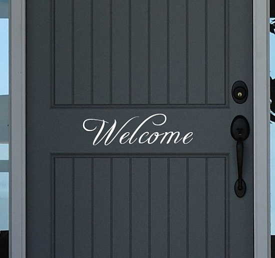 Wall Vinyl For Cricut | CRICUT Ideas / Welcome vinyl wall decal letters Front Door by ...