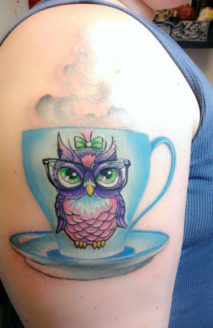 My nerdy owl tattoo, done by Gustavo Seattle Wa - Imgur