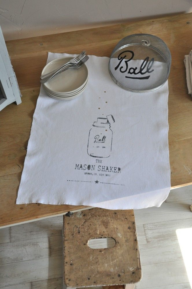 "Torchon ""Mason Shaker"" - smile-shop.fr"