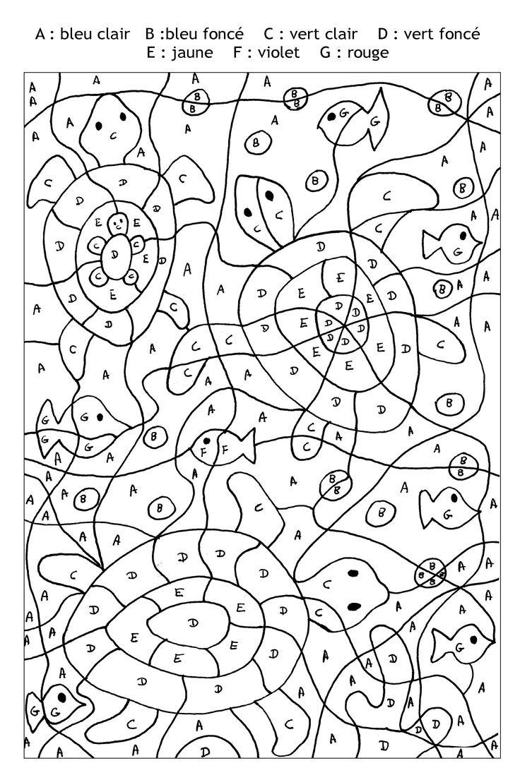 Pour imprimer ce coloriage gratuit «coloriage-magique-tortues-lettres», cliquez sur l'icône Imprimante situé juste à droite