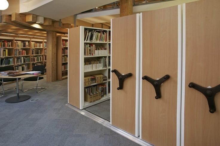Flexistor is ideal for library and archive storage with bespoke mobile shelving fitted on tracked rails for easy storage and access. http://www.compactstorage.co.uk/mobile-shelving/flexstor/