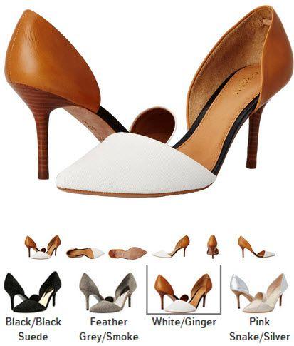 pantofi deosebiti cu toc cui COACH Camille negri, fumuriu, alb cu maro, roz cu argintiu. Detalii aici http://thankyou.ws/pantofi-stiletto-din-piele-naturala-alege-calitatea #pantofisenzationali  #pantoficutocstiletto #pantofidinpielenaturala #pantofistilettopielenaturala #COACH #Camille