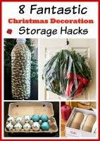 It isn't nearly as fun putting it away as it is getting it out, is it? Give these Christmas decoration storage hacks a try and next year you'll be happy you did when you start to decorate for Christmas again! 8 fantastic and thrifty ideas for organizing your holiday decorations.